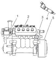 система питания двигателя 334
